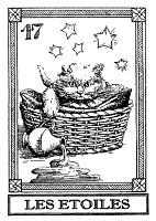 Frantic Stamper Cling-Mounted Rubber Stamp - Cat Tarot Card - Les Etoiles
