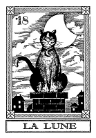 Frantic Stamper Cling-Mounted Rubber Stamp - Cat Tarot Card - La Lune