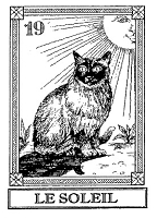 Frantic Stamper Cling-Mounted Rubber Stamp - Cat Tarot Card - Le Soleil