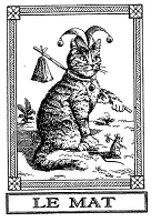 Frantic Stamper Cling-Mounted Rubber Stamp - Cat Tarot Card - Le Mat