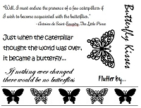 Frantic Stamper Un-Mounted Rubber Stamp - Butterflies