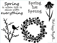 Frantic Stamper Un-Mounted Rubber Stamp - Spring