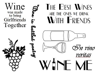 Frantic Stamper Un-Mounted Rubber Stamp - Wine