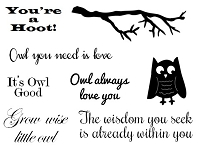 Frantic Stamper Un-Mounted Rubber Stamp - Owl Speak