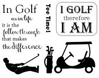 Frantic Stamper Un-Mounted Rubber Stamp - Golf