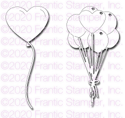 Frantic Stamper Precision Die - Caring Balloons