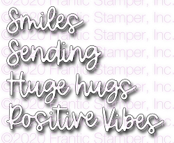 Frantic Stamper Precision Die - Sending Positive Vibes Word Set