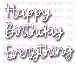 Frantic Stamper Precision Die - Happy Everything Word Set