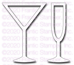 Frantic Stamper Precision Die - Cocktail Shakers