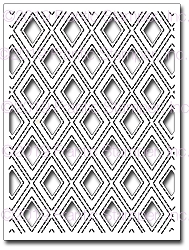 Frantic Stamper Precision Die - Stitched Diamond Panel #1