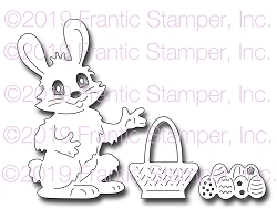 Frantic Stamper Precision Die - Bunny with Basket