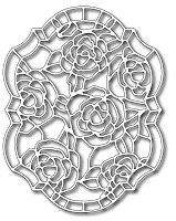 Frantic Stamper Precision Die - Roses Stained Glass