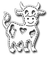 Frantic Stamper Precision Die - Stitched Cow