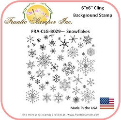 Frantic Stamper - 6x6 Background Rubber Stamp - Snowflakes