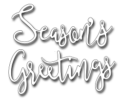 Frantic Stamper Precision Die - Script Seasons Greetings