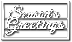 Frantic Stamper Precision Die - Seasons Greetings Block