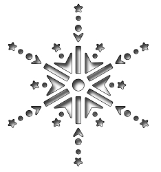 Frantic Stamper Precision Die - Reverse Cut Jeweled Snowflake