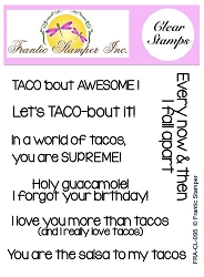 Frantic Stamper Clear Stamp Set - Taco Sentiments