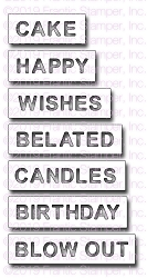 Frantic Stamper Precision Die - Reverse-cut Birthday Words