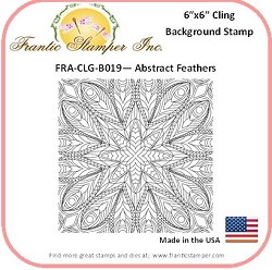 Frantic Stamper - 6x6 Background Rubber Stamp - Abstract Feathers