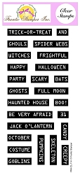 Frantic Stamper Clear Stamp Set - Retro Label Maker Halloween Sentiments