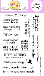 Frantic Stamper Clear Stamp Set - Monster Sentiments