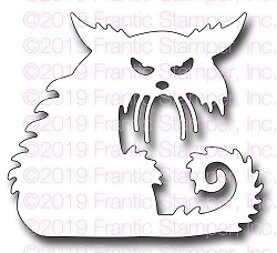 Frantic Stamper Precision Die - Creepy Cat
