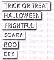 Frantic Stamper Precision Die - Halloween Reverse-cut Words
