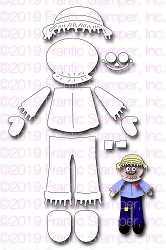 Frantic Stamper Precision Die - Build A Scarecrow