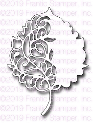 Frantic Stamper Precision Die - Scroll Birch Leaf