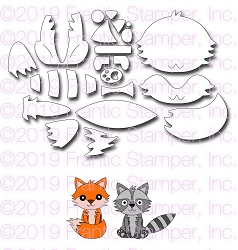 Frantic Stamper Precision Die - Build A Fox & Raccoon