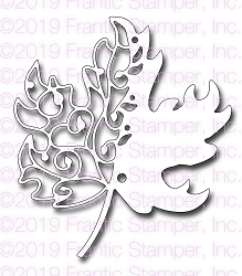 Frantic Stamper Precision Die - Scroll Maple Leaf