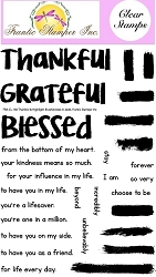 Frantic Stamper Clear Stamp Set - Thankful & Highlight Brushstrokes
