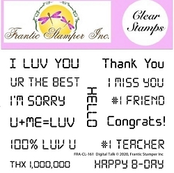 Frantic Stamper Clear Stamp Set - Digital Talk