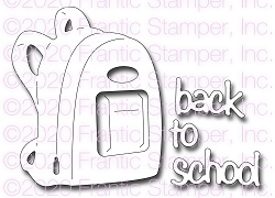 Frantic Stamper Precision Die - Back to School Backpack