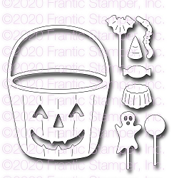 Frantic Stamper Precision Die - Halloween Candy Bucket