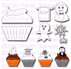 Frantic Stamper Precision Die - Cupcake and Halloween Toppers #2