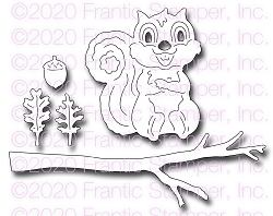 Frantic Stamper Precision Die - Cute Squirrel