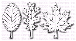 Frantic Stamper Precision Die - Stitched Fall Leaves