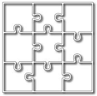 Frantic Stamper Precision Die - Nine Piece Puzzle Panel