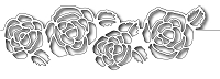 Frantic Stamper Precision Die - Rose Cutout Border