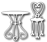 Frantic Stamper Precision Die - Bistro Table and Chairs