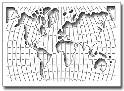 Frantic Stamper Precision Die - World Map