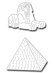 Frantic Stamper Precision Die - Sphinx and Pyramid