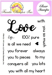 Frantic Stamper Clear Stamp Set - Love