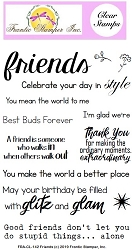Frantic Stamper Clear Stamp Set - Friends