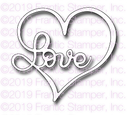 Frantic Stamper Precision Die - Love Heart
