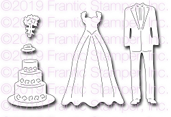 Frantic Stamper Precision Die - Wedding Attire
