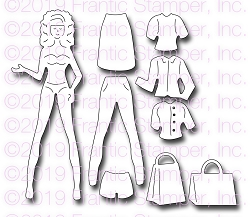 Frantic Stamper Precision Die - Shopping Girl