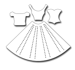 Frantic Stamper Precision Die - Pleated Dress